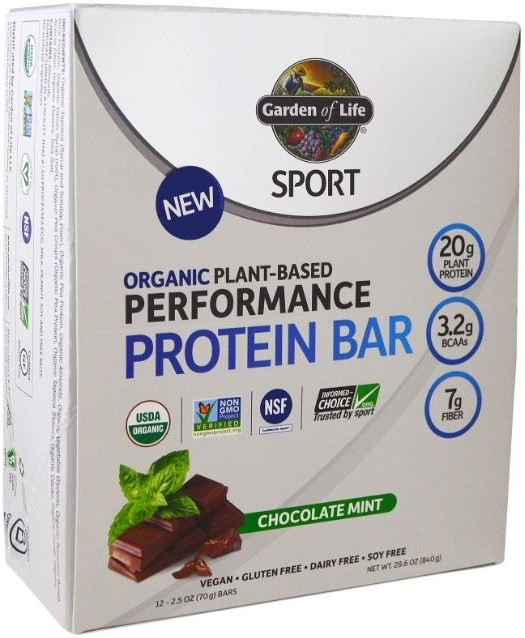 Garden Of Life Organic Plant Based Performance Protein Bars Od Ywki I Suplementy Tabletki Na
