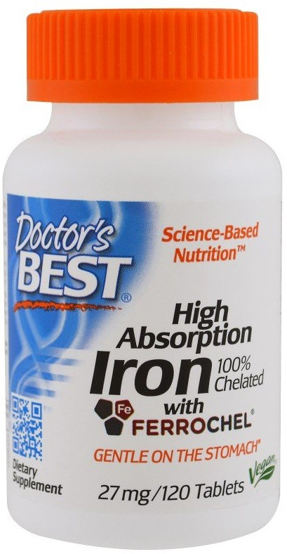 High Absorption Coq10 With Bioperine 200 Mg: Doctor's Best High Absorption Iron, 27mg